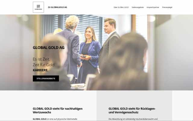 Global Gold AG – Karriere