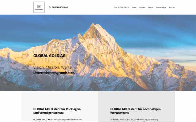 Global Gold AG – Leitbild