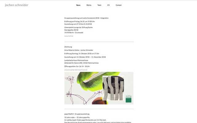 Jochen Schneider – Künstler