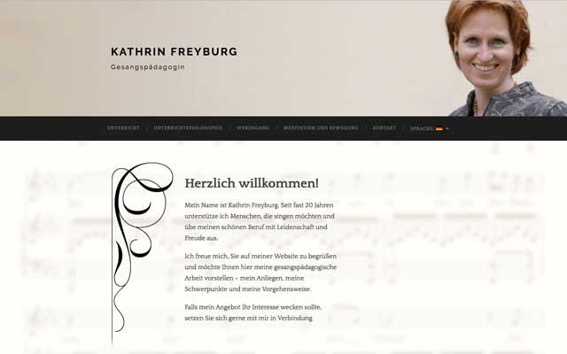 Kathrin Freyburg – Gesang
