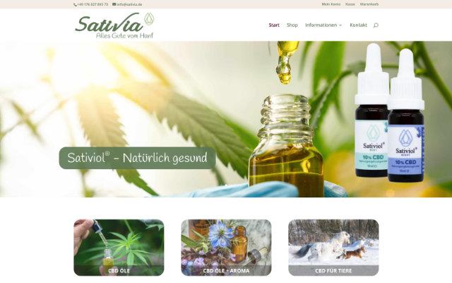 Sativia Online-Shop für CBD Öle